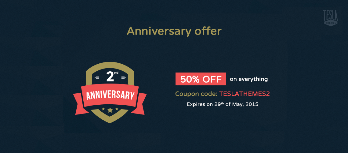 TESLATHEMES TURNS 2 YEARS OLD