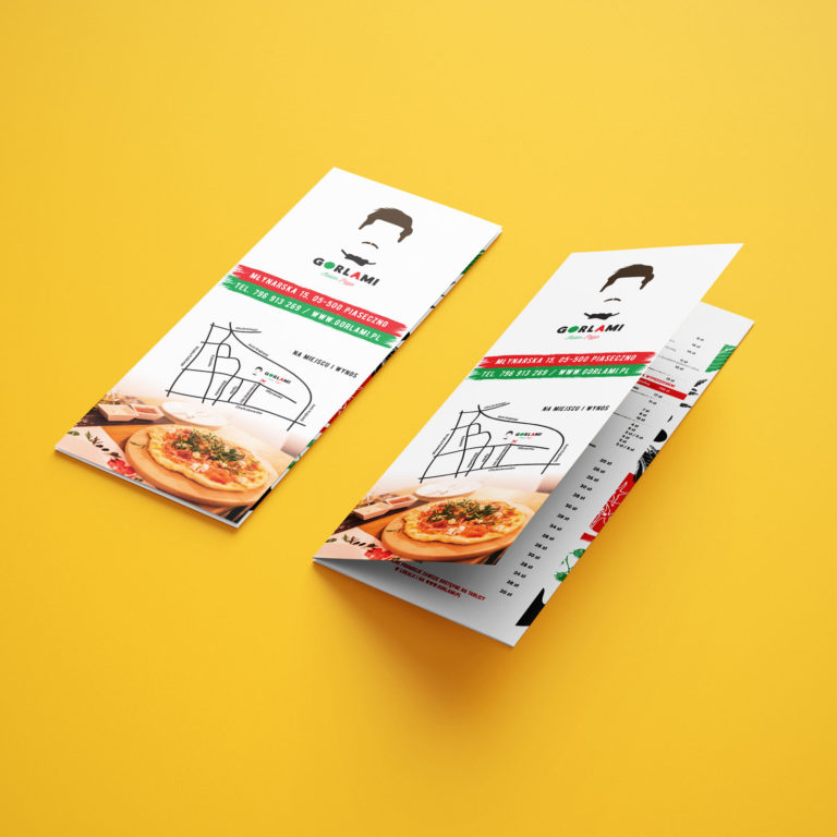 Gorlami menu flyer